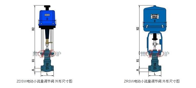 上海川沪阀门有限公司生产的ZD(R)SW电动小流量调节阀由3810系列(PSL系列)电动执行器及小流量调节阀体组成,执行器内含饲服功能,接受统一的4-20mA或1-5VDC的标准信号,将电流信号转变成相对应的直线位移,自动地控制电动小流量调节阀开度,达到对管道内流体的压力、流量、温度、液位等工艺参数的连续调节。 特点: 电动小流量调节阀是专门针对小流量调节而开发的小口径调节阀。 电动小流量调节阀具有体积小、重量轻、性能高、用于微小流量的精确控制等特点。 电动小流量调节阀调节不干净介质时,应针对其节流间隙小