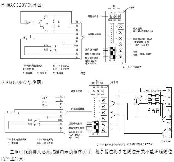 381调节型电动执行器接线图