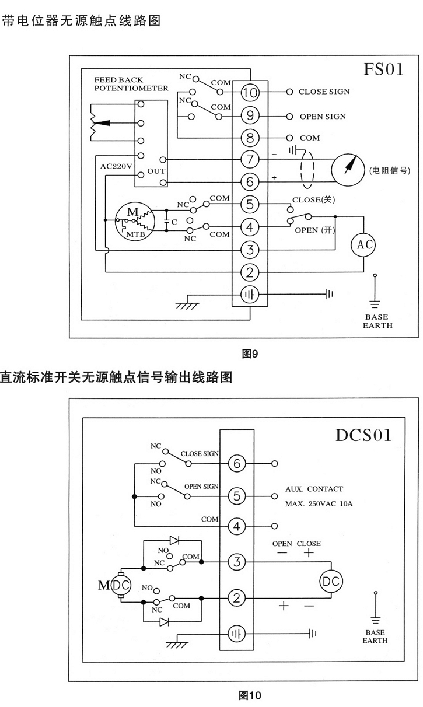chv电动执行器接线图