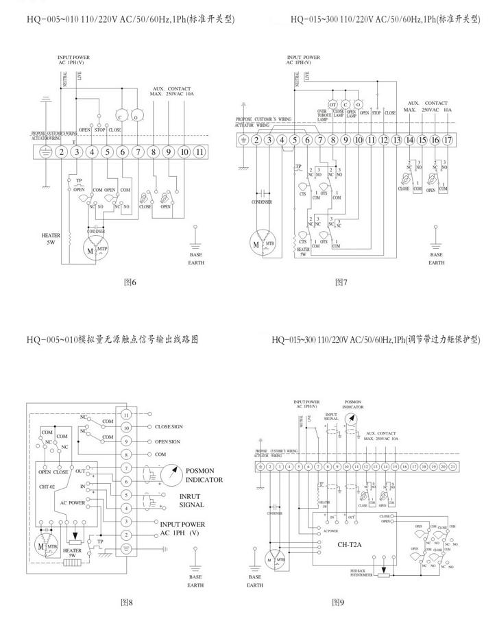 hq防爆电动执行器接线图