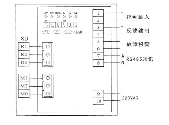 psl电动执行器_调节型接线图