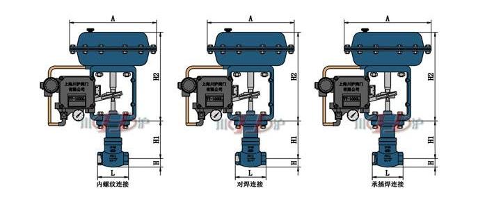 气动小流量调节阀结构图