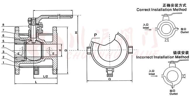 保温球阀结构图
